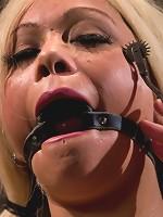 Horror actress takes real life bondage and orgasms.