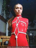 Spandex shiny dress bounded