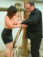 Outdoor Asian Bondage